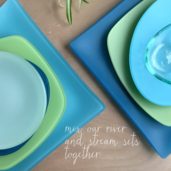 River SeaGlass 3 Piece Placesetting