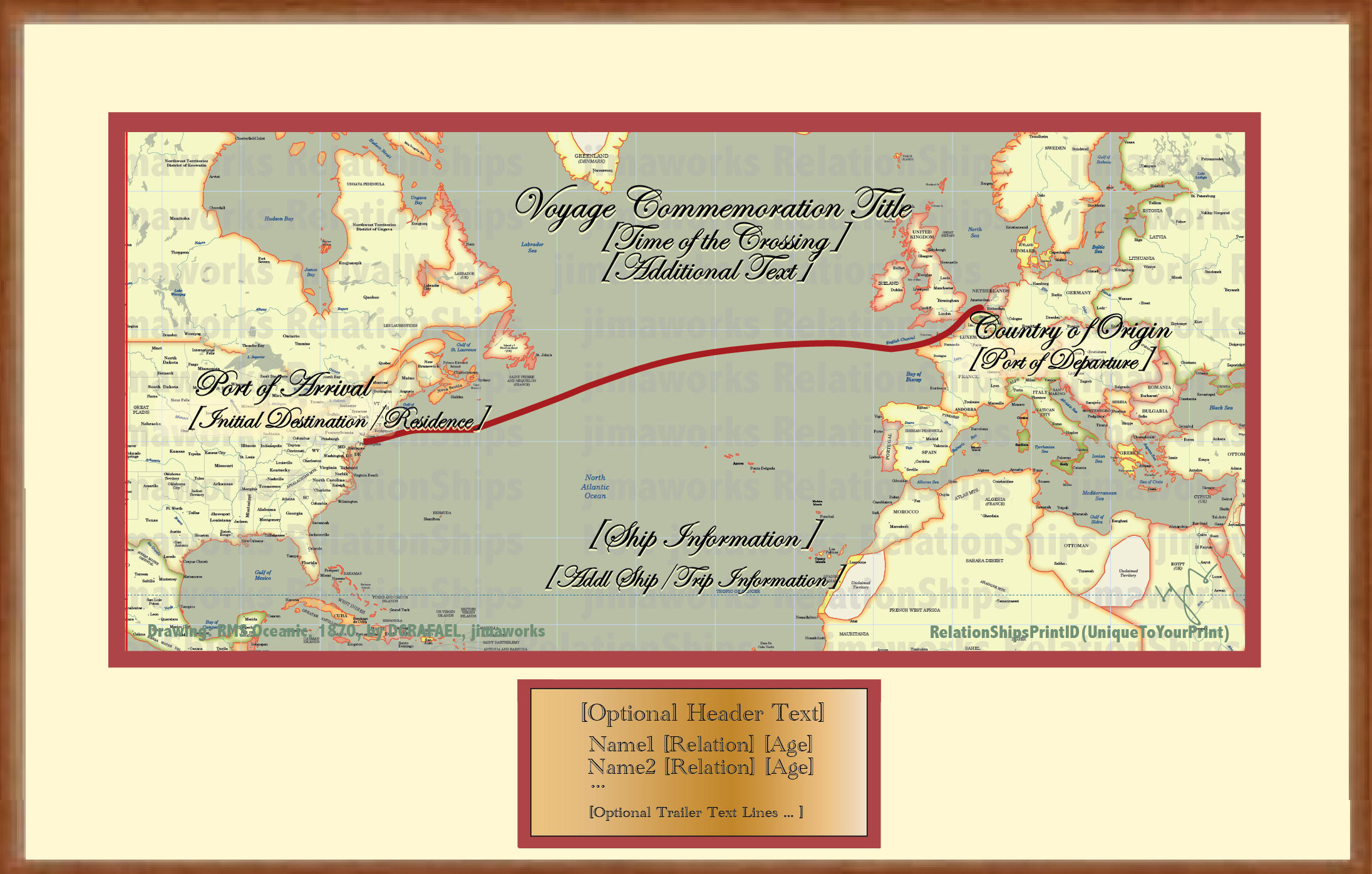 Skip the Ship - commemorate the crossing with a map-only display