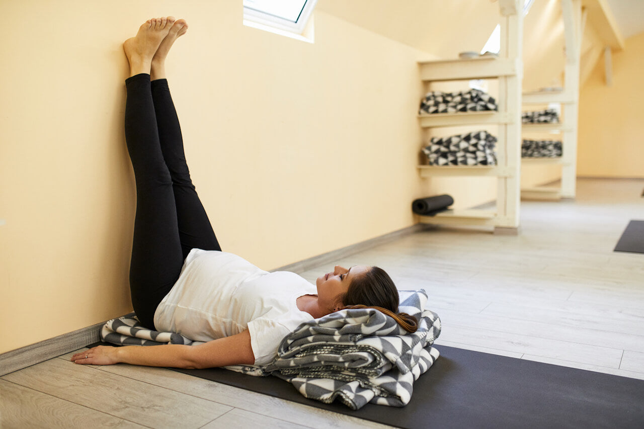 Legs Up on Wall Yoga Pose