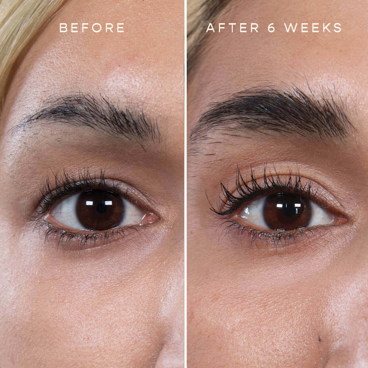 VEGAMOUR Lash & Brow Before and After