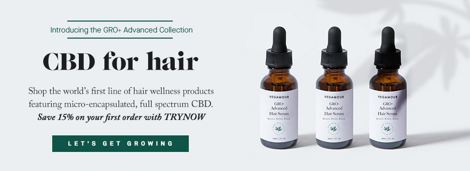 CBD for Hair - save 15% with code TRYNOW
