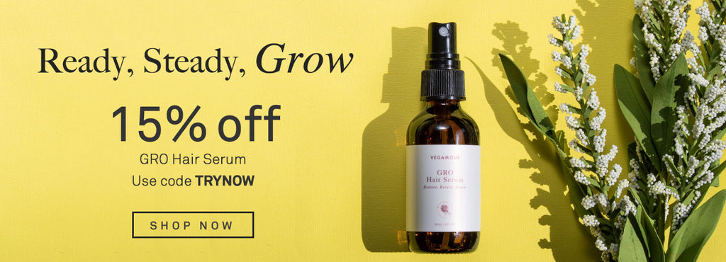 Save 15% on GRO Hair Serum.