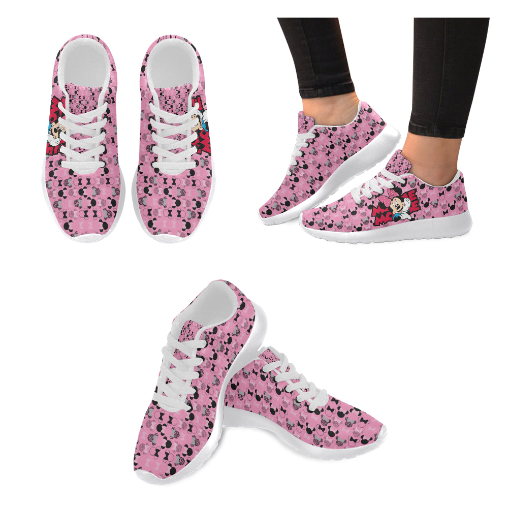 Minnie Mouse I White Women's Running Shoes