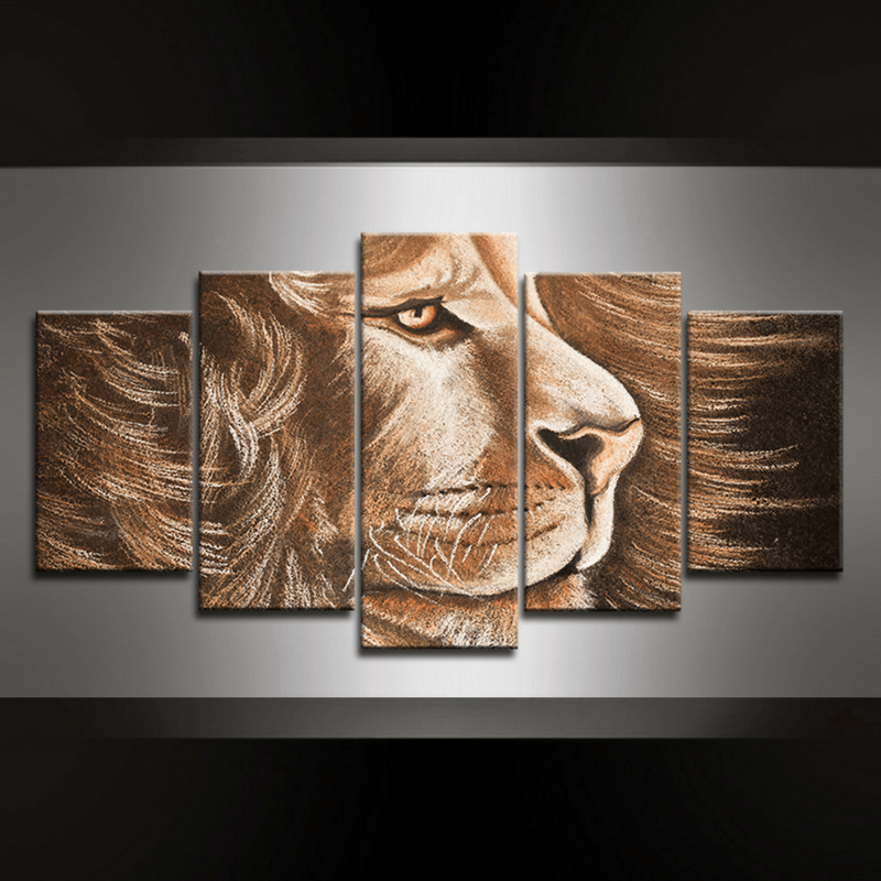 5 Piece Lion Victoria Canvas Wall Art