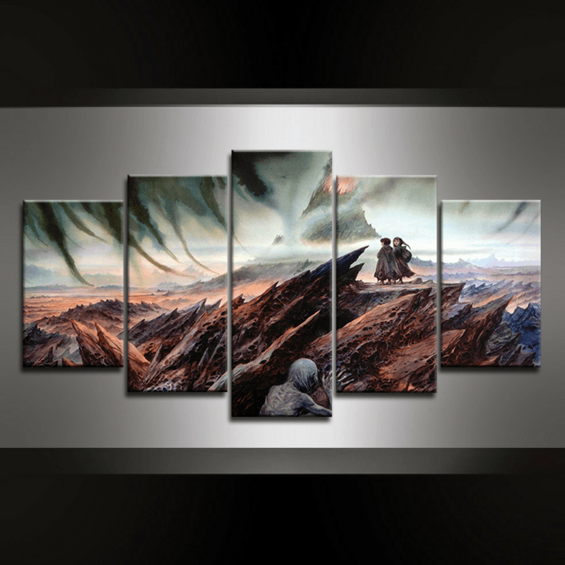 5 Piece Frodo & Samwise Canvas Wall Art