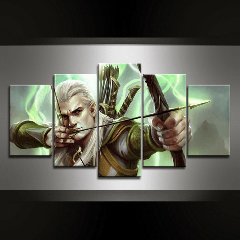 5 Piece Legolas Canvas Wall Art