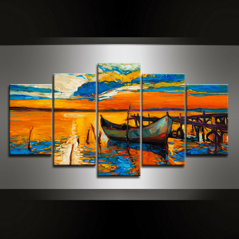 5 Piece Seascape Canvas Wall Art