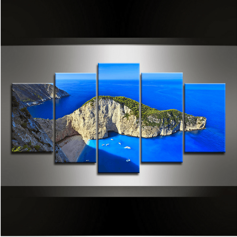 5 Piece Navagio Canvas Wall Art
