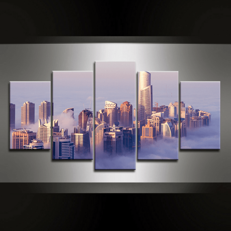 5 Piece Dubai Canvas Wall Art