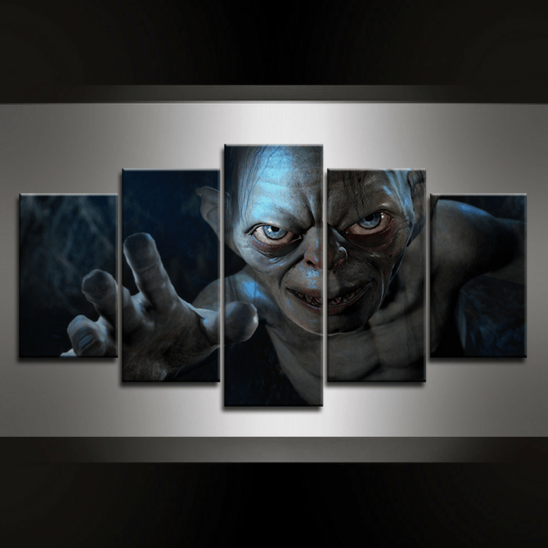 5 Piece Golum Canvas Wall Art