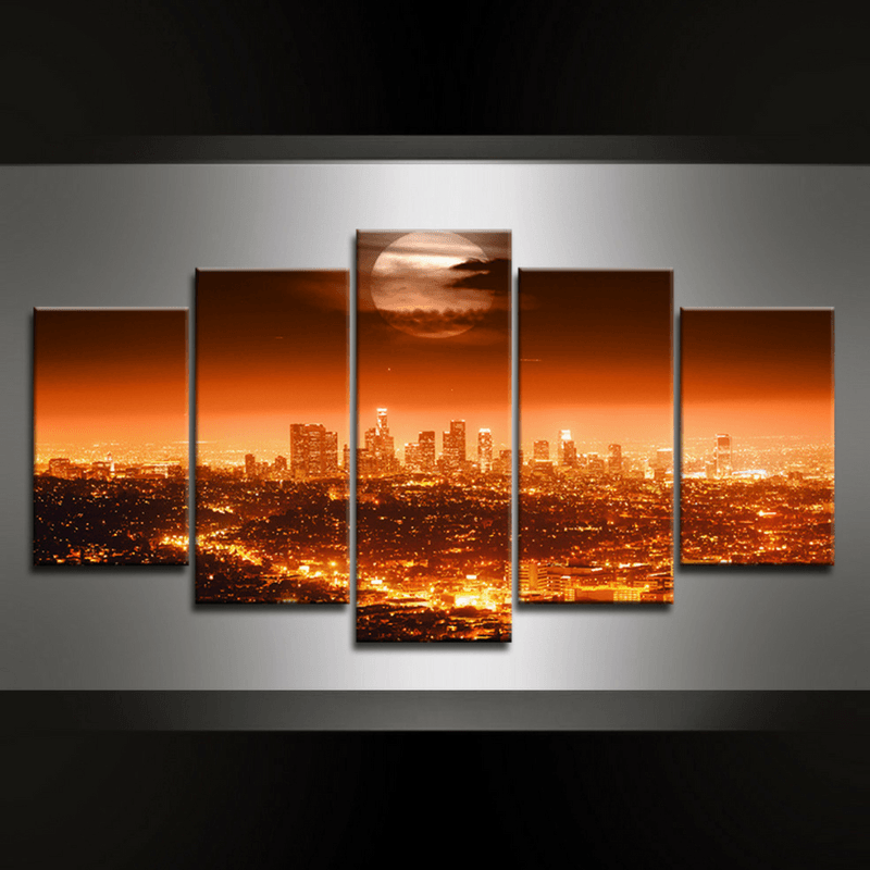 5 Piece LA Canvas Wall Art