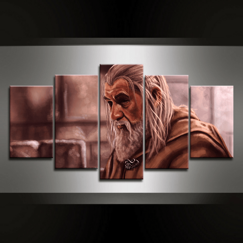 5 Piece Gandalf I Canvas Wall Art