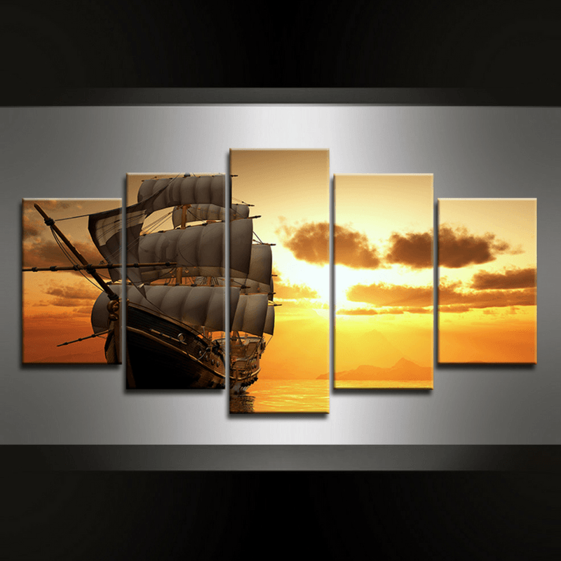 5 Piece Weaver Canvas Wall Art