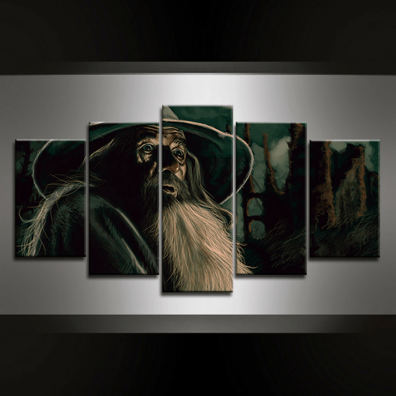 5 Piece Gandalf II Canvas Wall Art