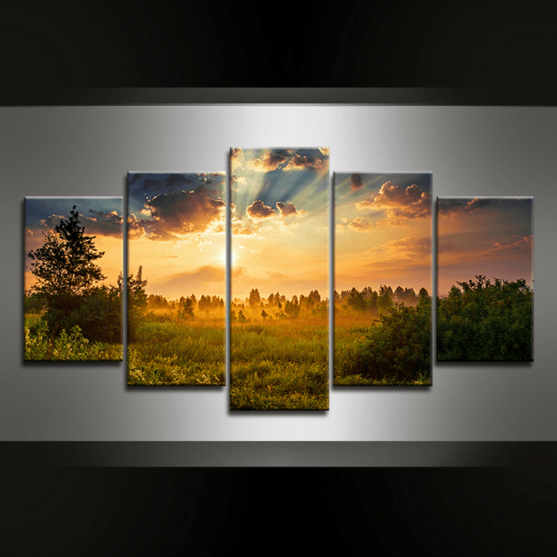 5 Piece Landscape Canvas Wall Art