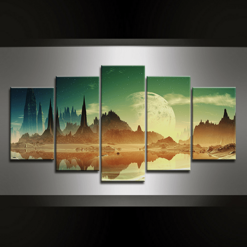5 Piece Aliencity Canvas Wall Art