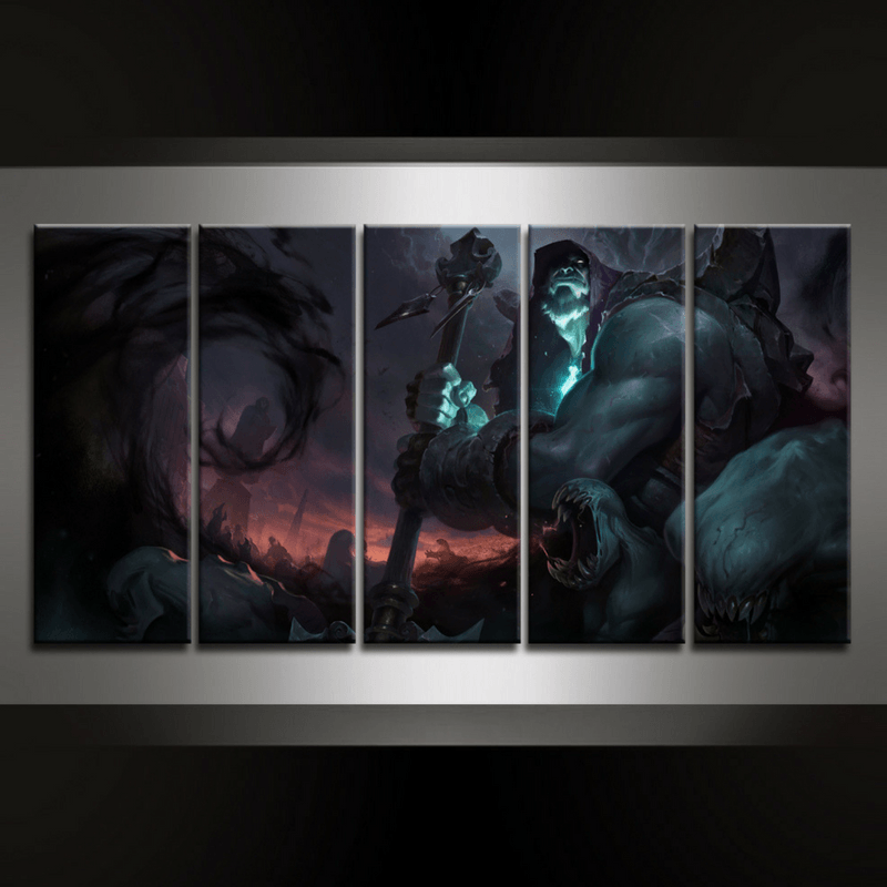 5 Piece Yorick Canvas Wall Art