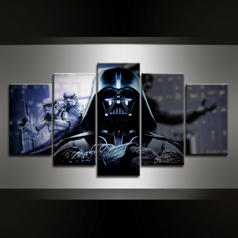 5 Piece Vader Canvas Wall Art