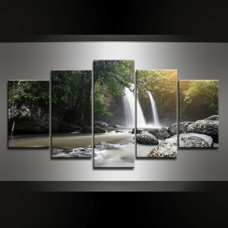 5 Piece Waterfall Khao Canvas Wall Art