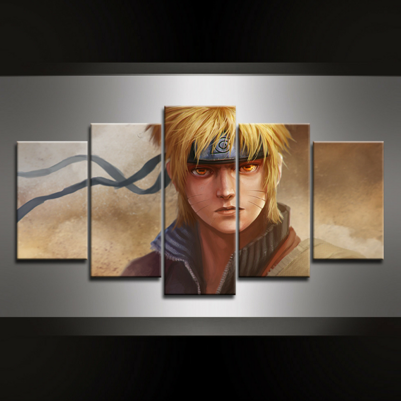 5 Piece Naruto Wall Art