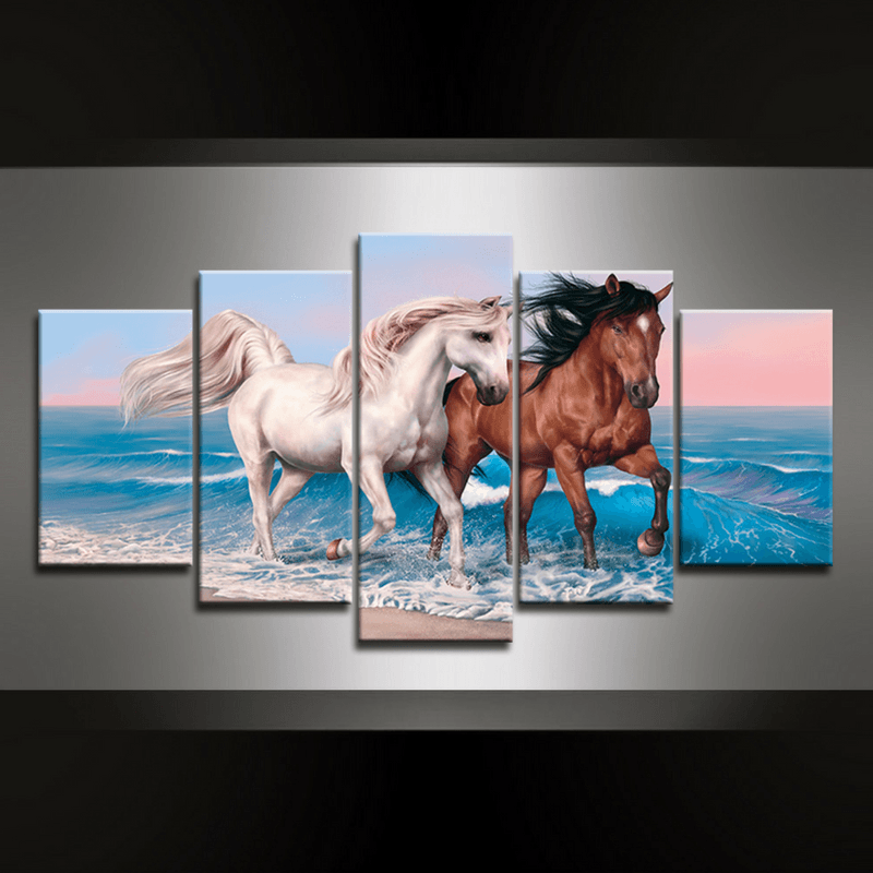 5 Piece Horse Canvas Wall Art Series