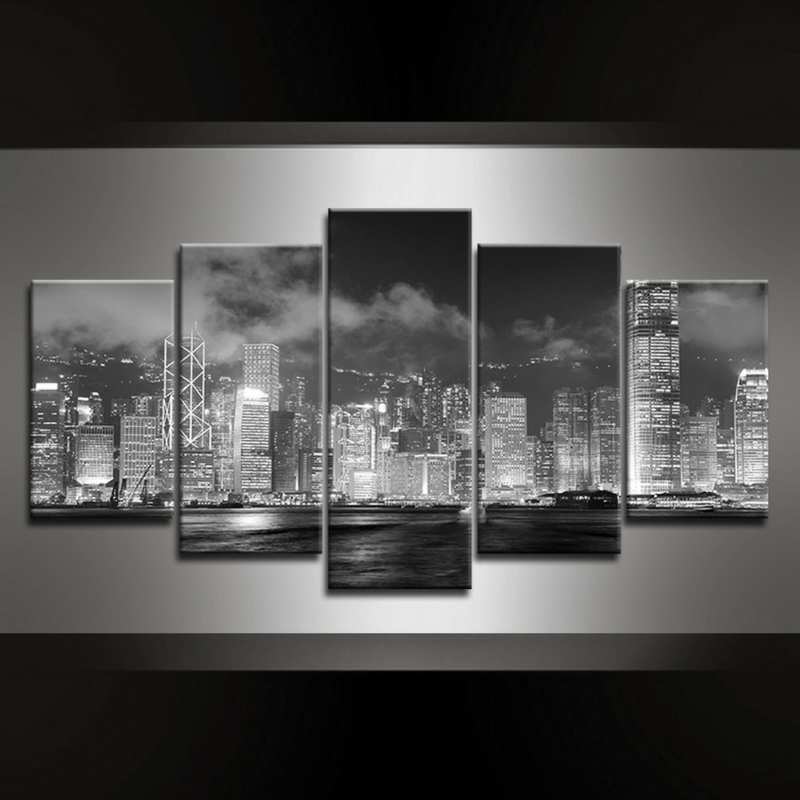 5 Piece Victoria Harbour Canvas Wall Art