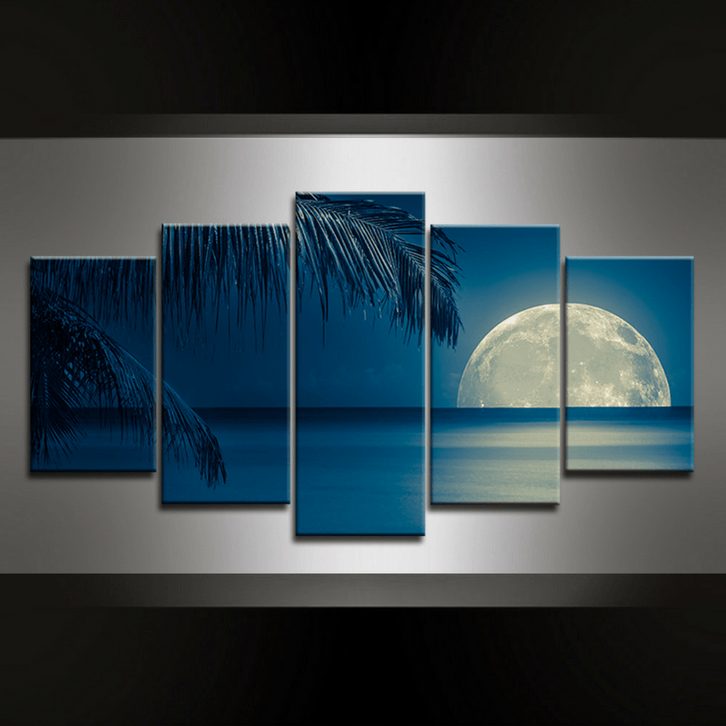 5 Piece Palmview Canvas Wall Art
