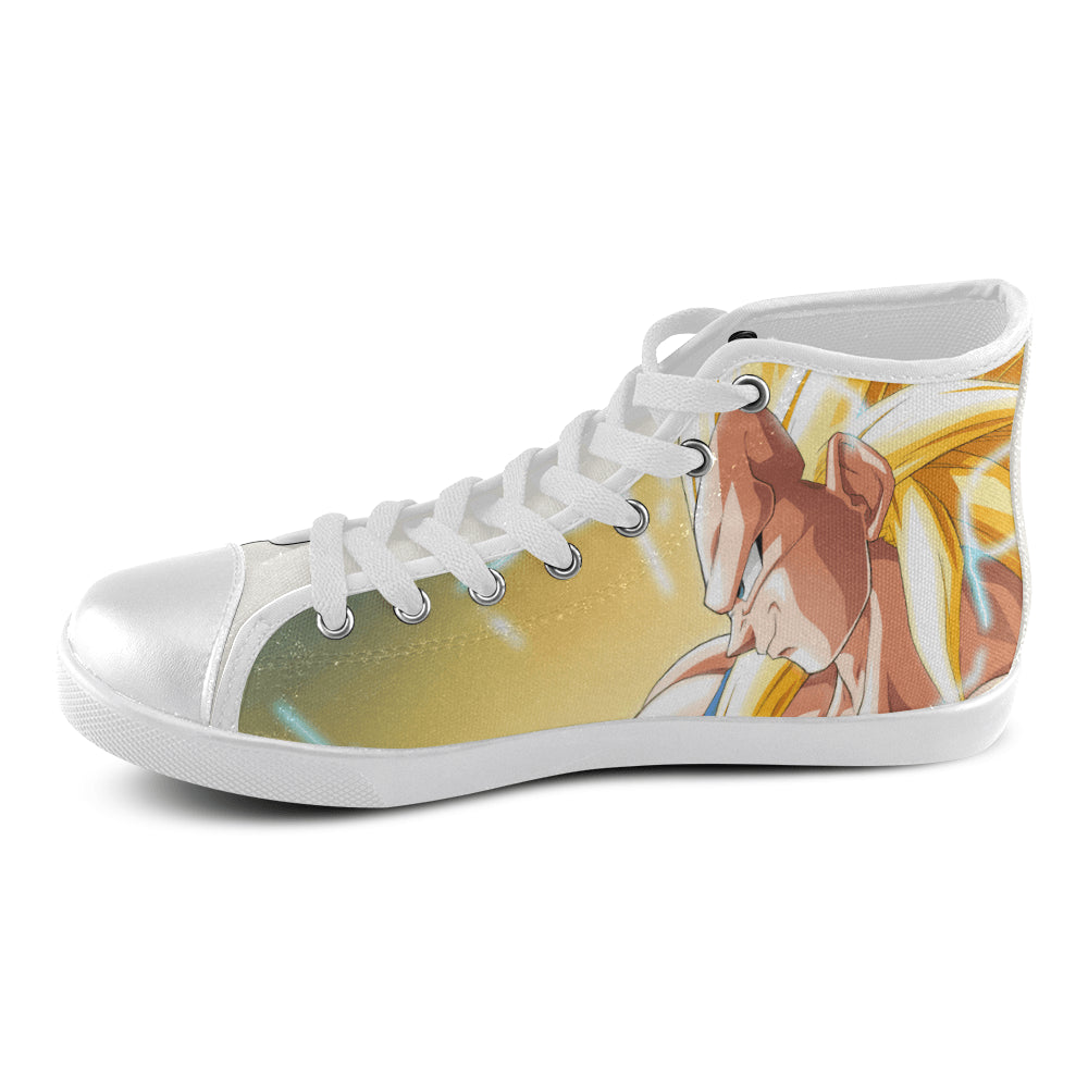Vegeta SSJ3 vs 4 Men's High Top Canvas Shoes