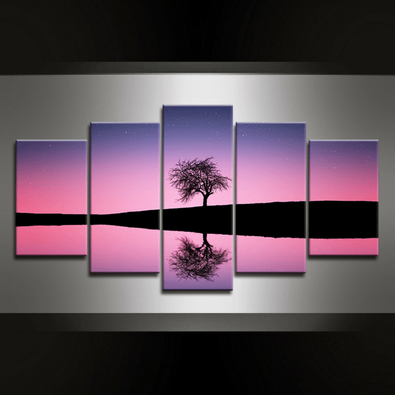 5 Piece Tree Canvas Wall Art
