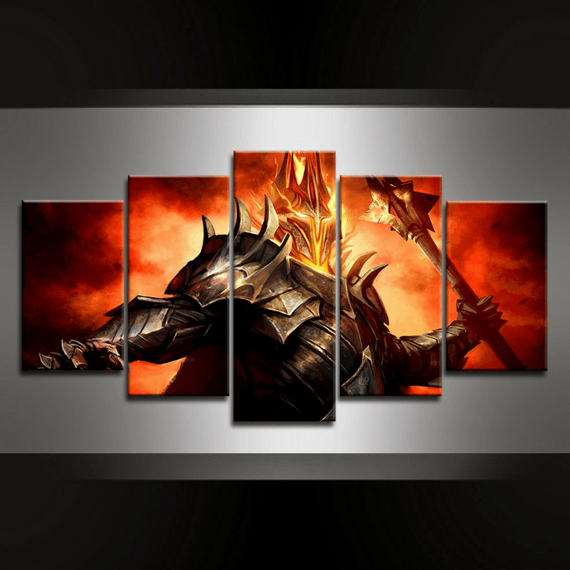 5 Piece Sauron I Canvas Wall Art