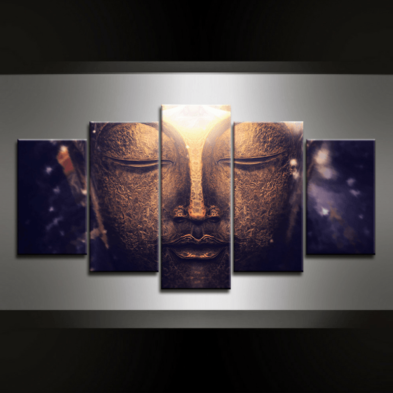 5 Piece Buddhism Canvas Wall Art Series