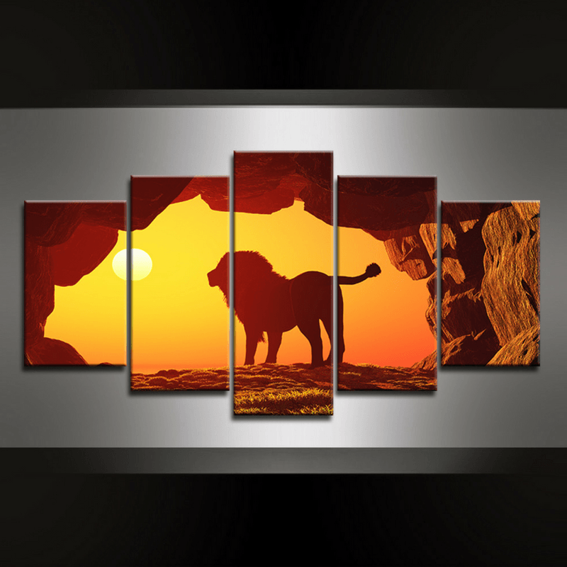 5 Piece Lionheart Canvas Wall Art