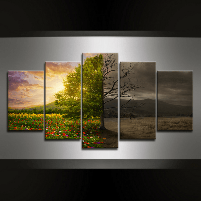 5 Piece Tree Karma Canvas Wall Art