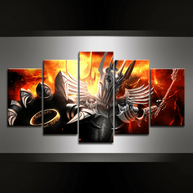 5 Piece Sauron II Canvas Wall Art