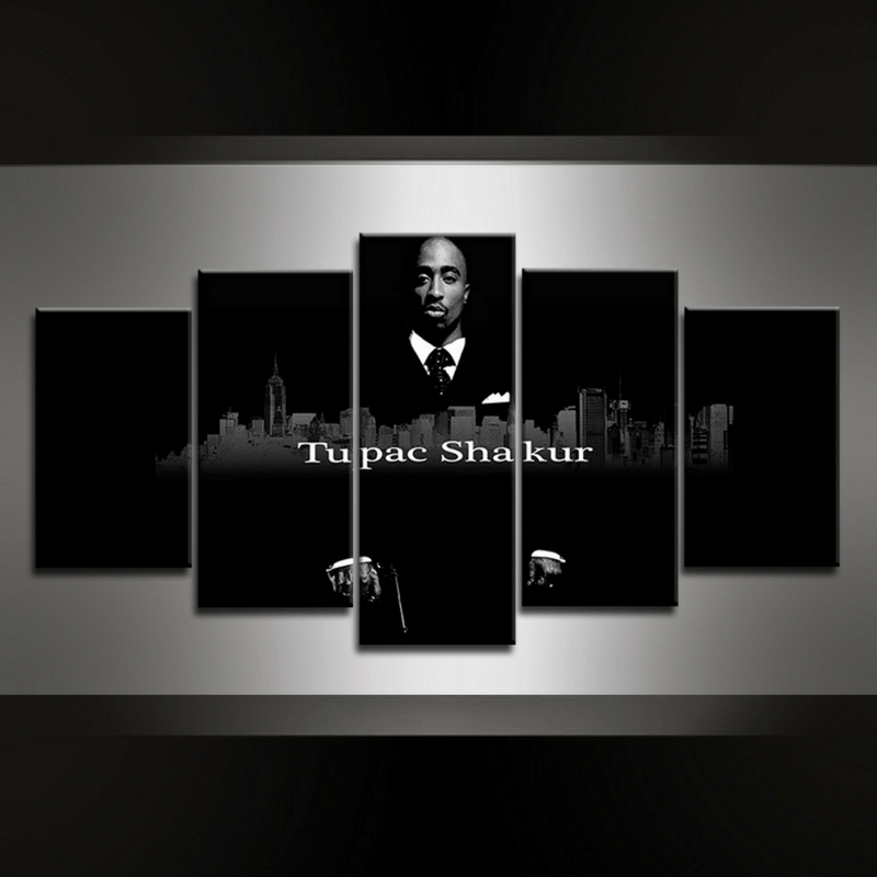 5 Piece Tupac Canvas Wall Art Series