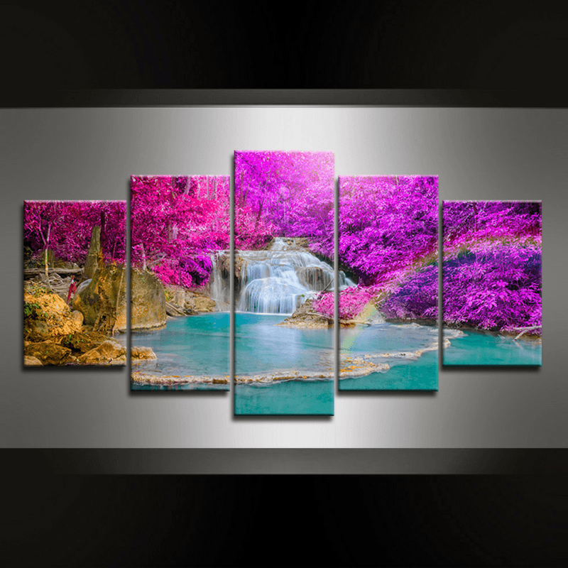 5 Piece Waterfall Kuang Canvas Wall Art