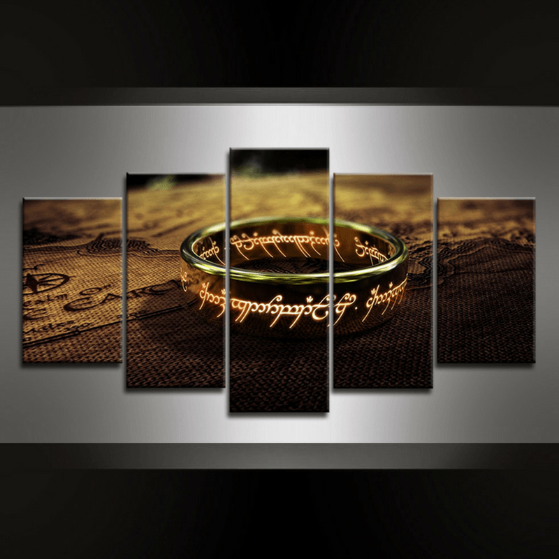 5 Piece The Ring Canvas Wall Art