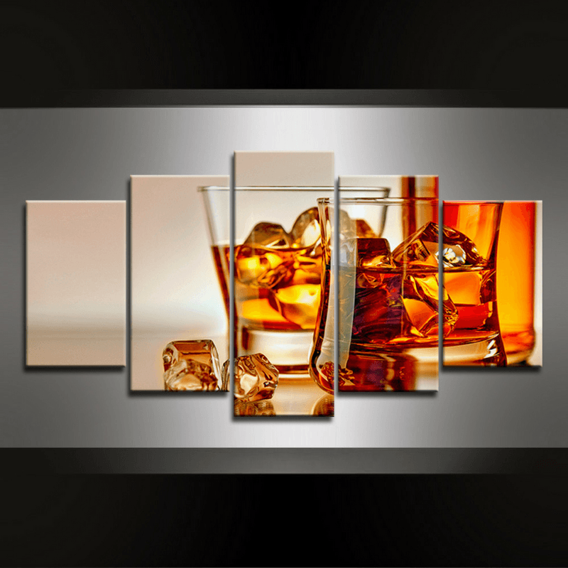 5 Piece Whiskey Canvas Wall Art