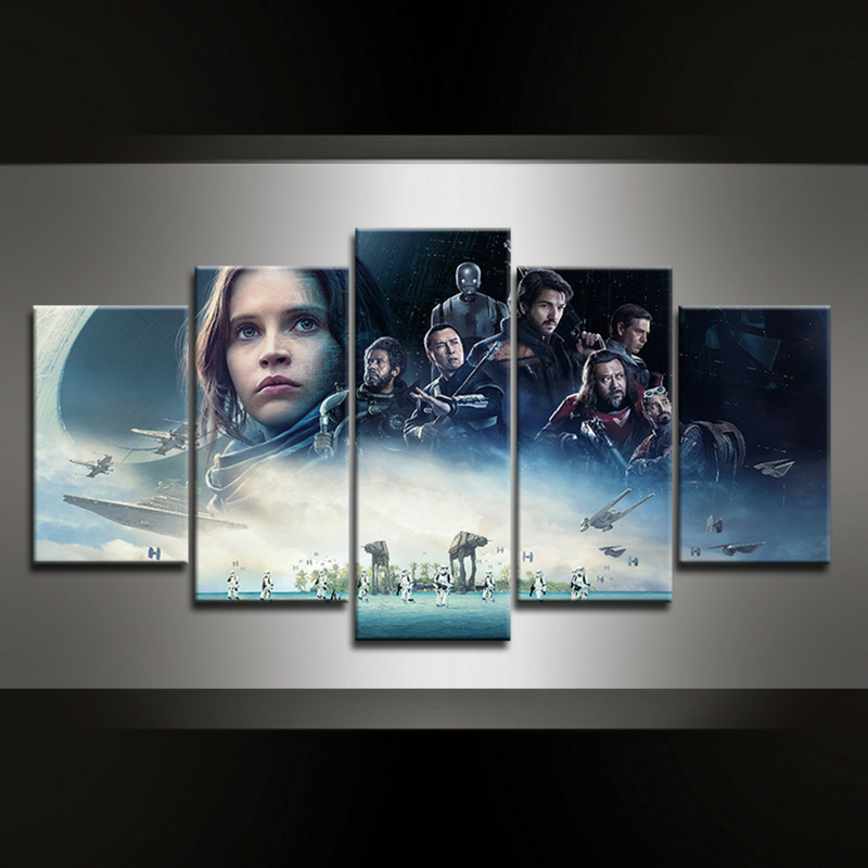 5 Piece Rogue One Canvas Wall Art