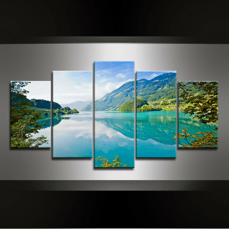 5 Piece Lake Canvas Wall Art