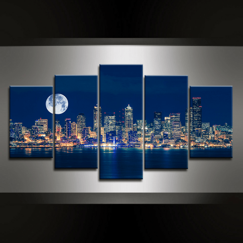 5 Piece Seattle Canvas Wall Art
