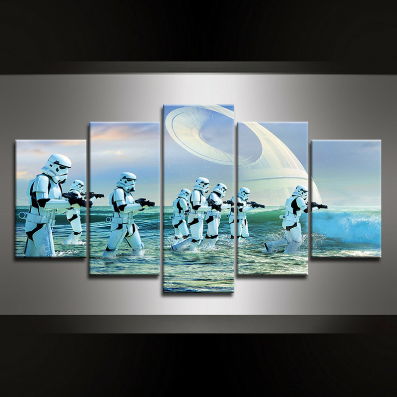 5 Piece Storm Trooper Canvas Wall Art