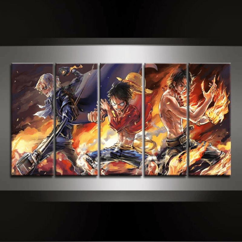 D Exhibition One Piece : 5 piece one piece canvas wall art gearearth
