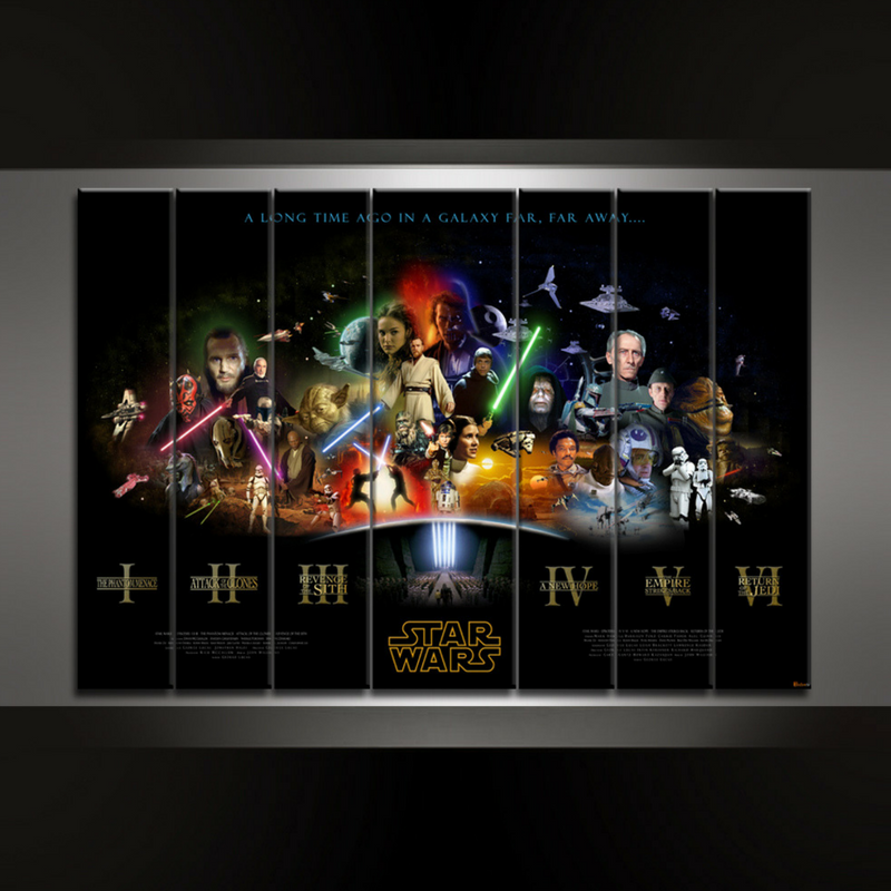 5 Piece VI Episodes Canvas Wall Art