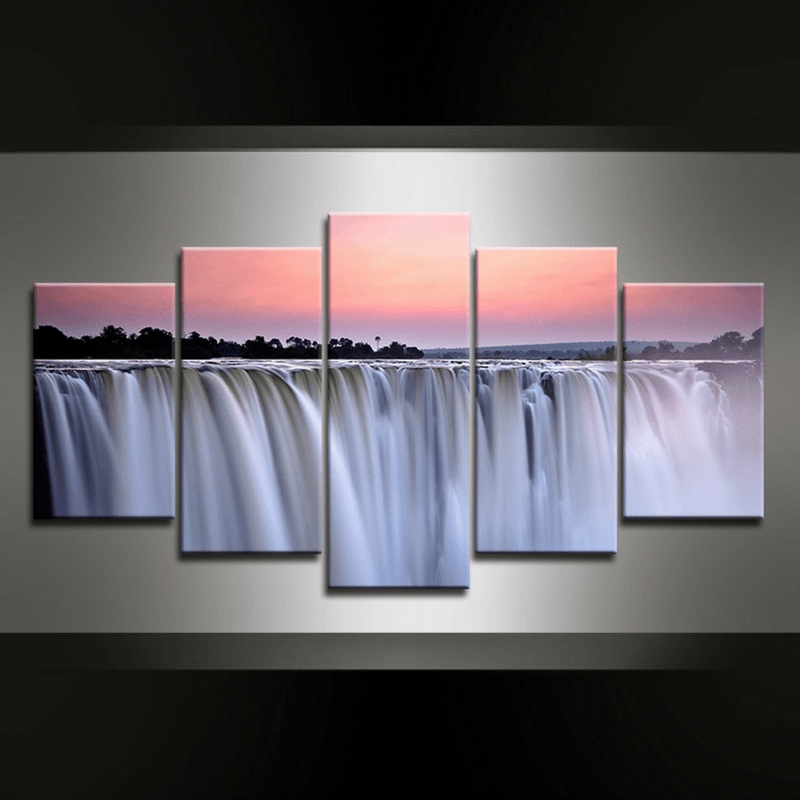 5 Piece Waterfall Victoria Canvas Wall Art