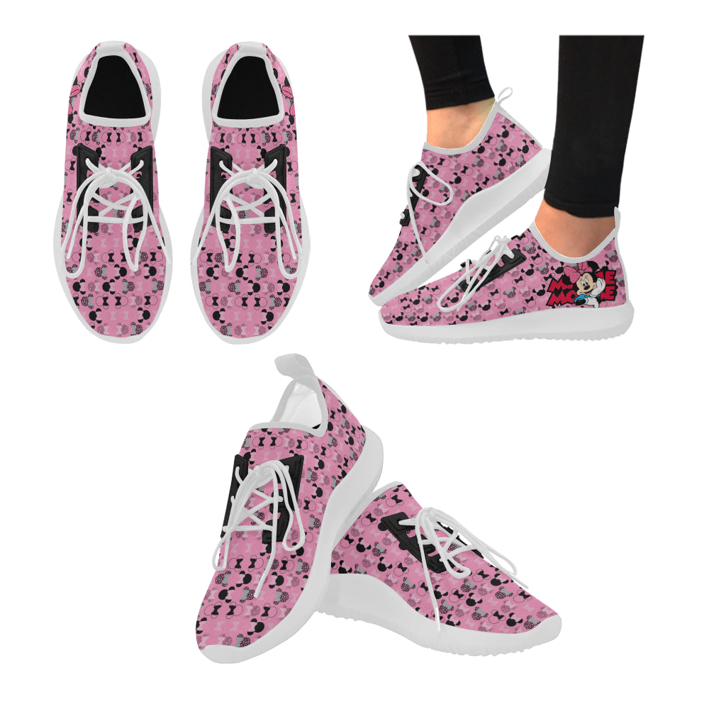 Minnie Mouse I White Dolphin Ultra Light Running Shoes for Women