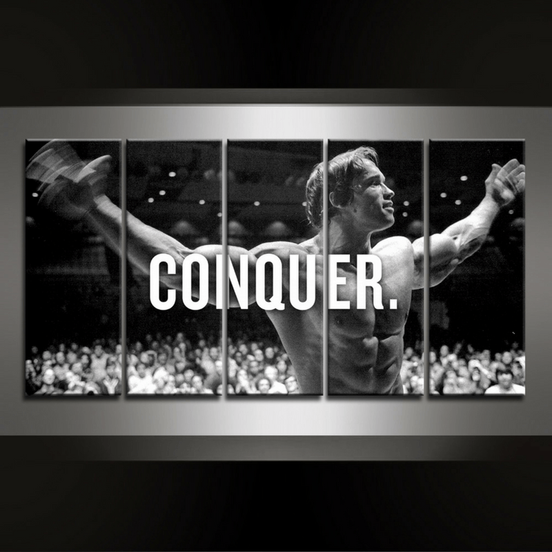 5 Piece Conquer Canvas Wall Art
