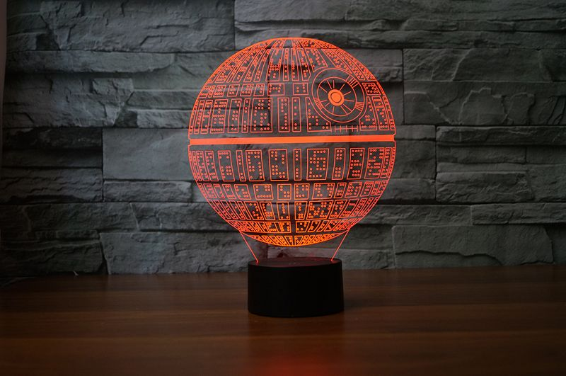 Death Star 3D-Lamp