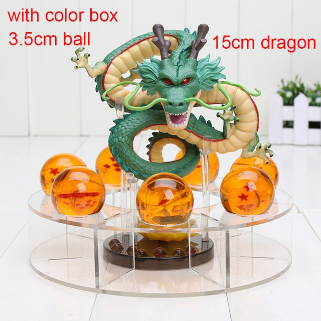 15cm Dragon Ball Z Action Figures Shenron Dragonball Z Figures Set Esferas Del Dragon+7pcs 3.5cm Balls+Shelf Figuras DBZ