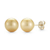 The Classic Golden South Sea Pearl Earrings